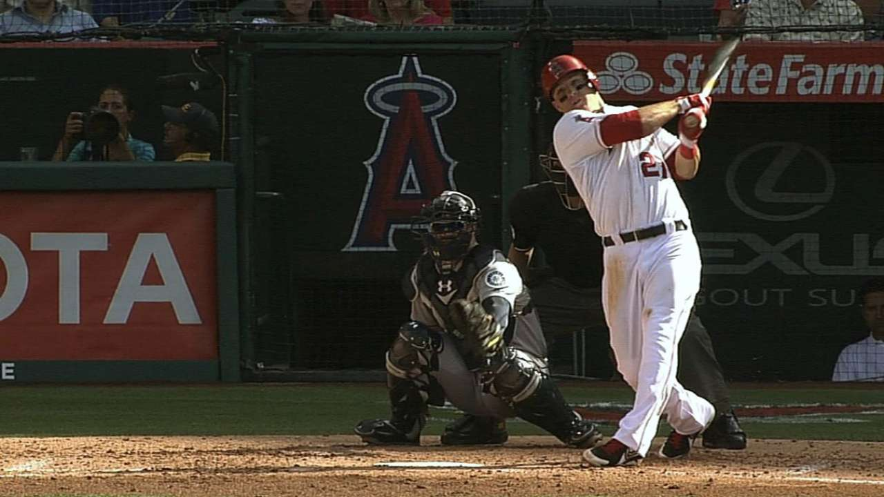 Plate discipline adding to the Angels' production