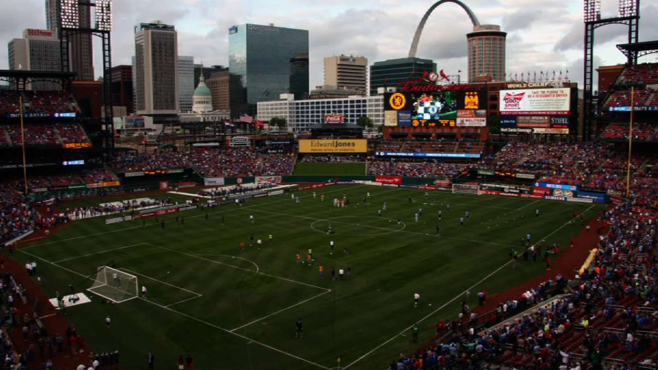 Soccer stars honor Oklahoma victims at Busch