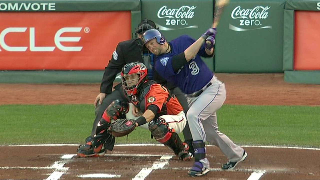 Cuddyer returns with big game vs. Giants