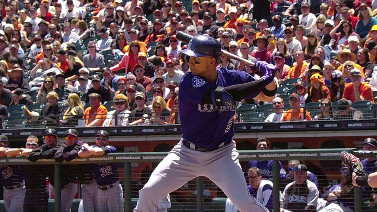 CarGo becomes first Rockie to reach McCovey Cove