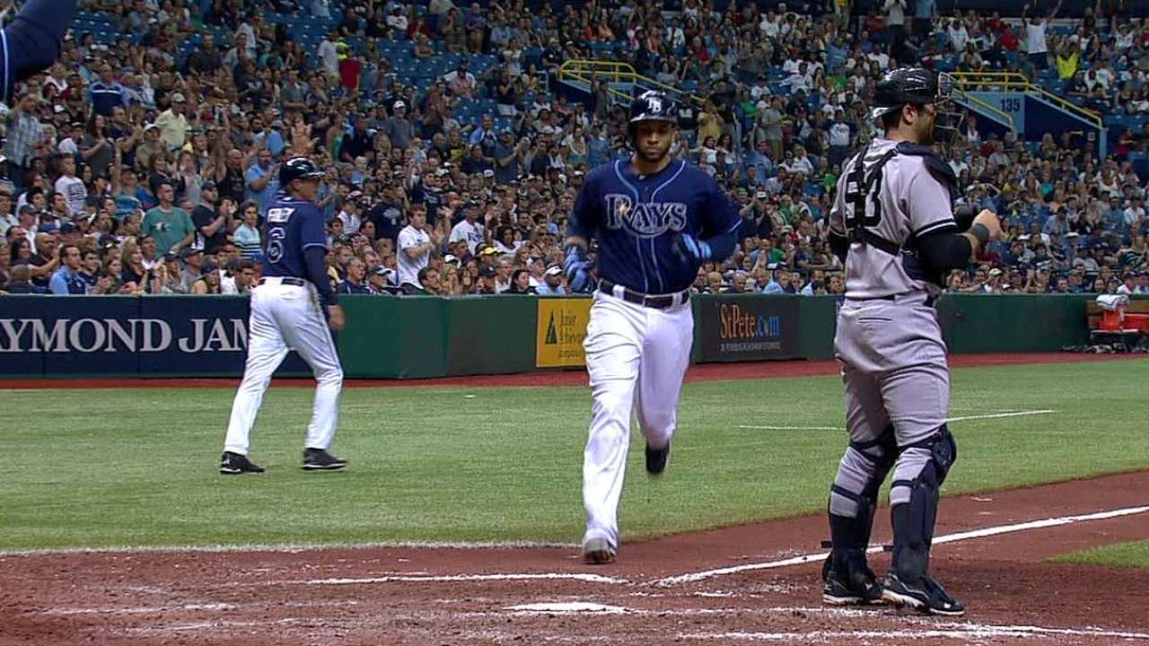 Rays drop first Moore start after 'pen falters late