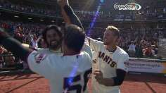 Giants walk off on inside-the-park homer