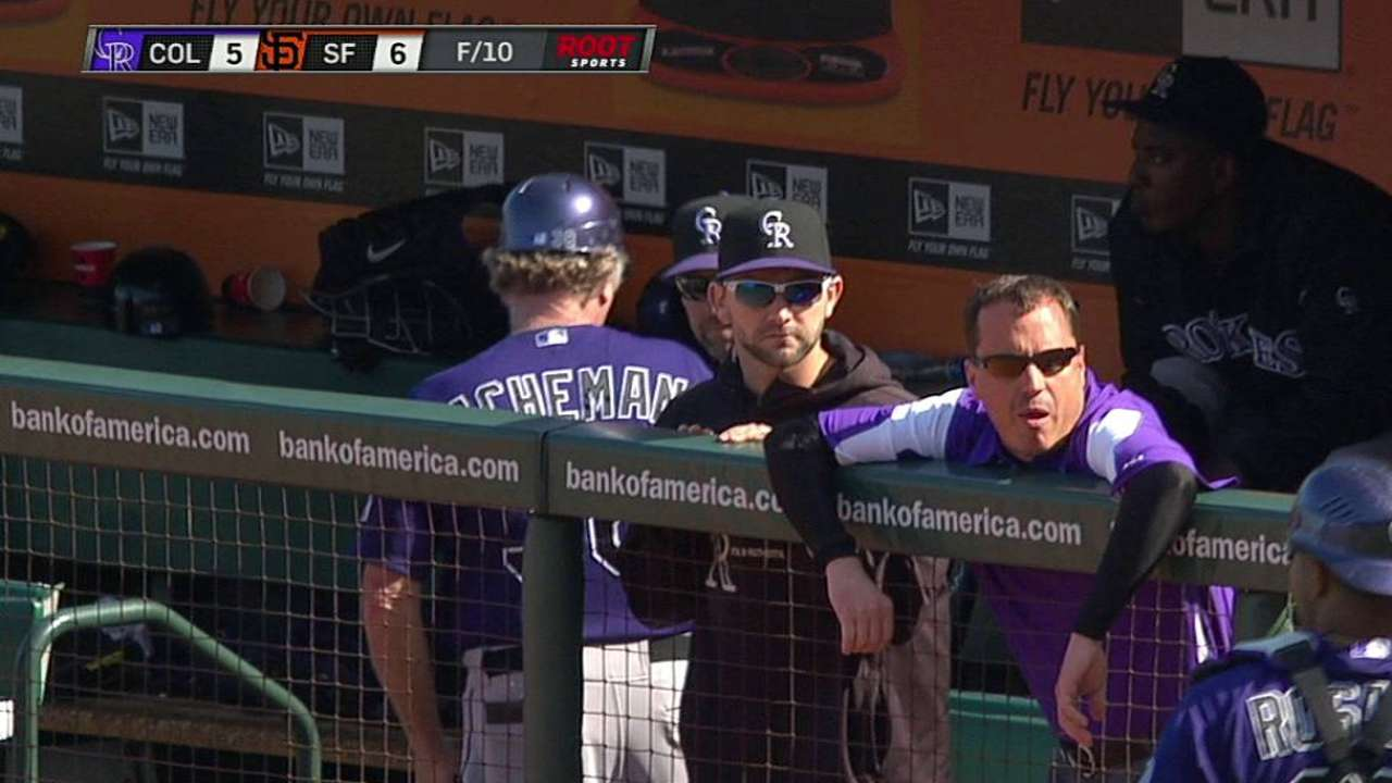 Inside-the-park homer sinks Rockies in 10th