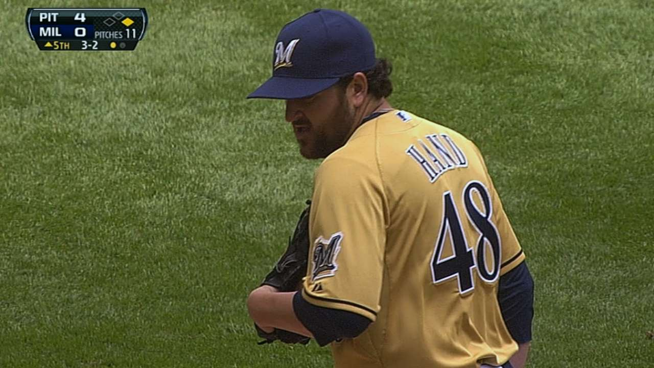 Hand promoted, makes big league debut