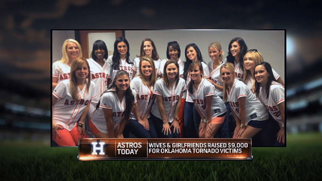 Astros wives and girlfriends help tornado victims