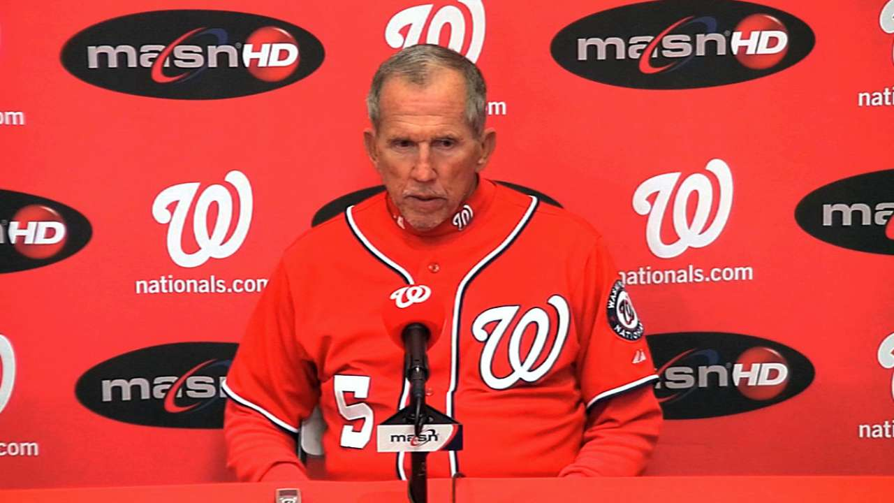 Sore left knee keeps Harper from lineup vs. O's