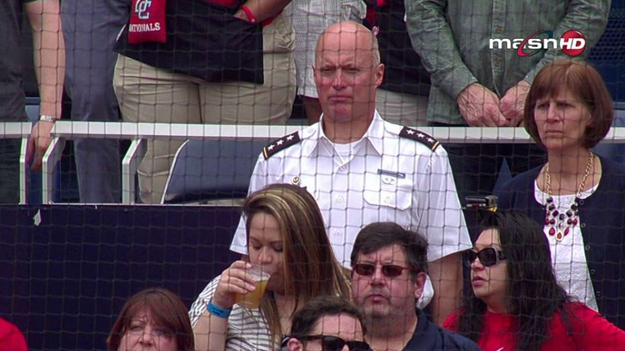 Nats honor veterans on Memorial Day