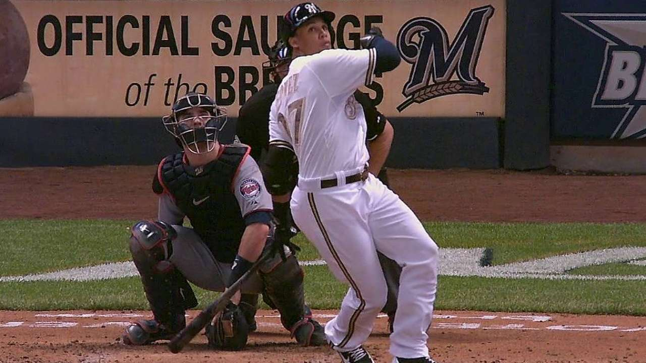 Gomez homers twice, but Peralta shaky