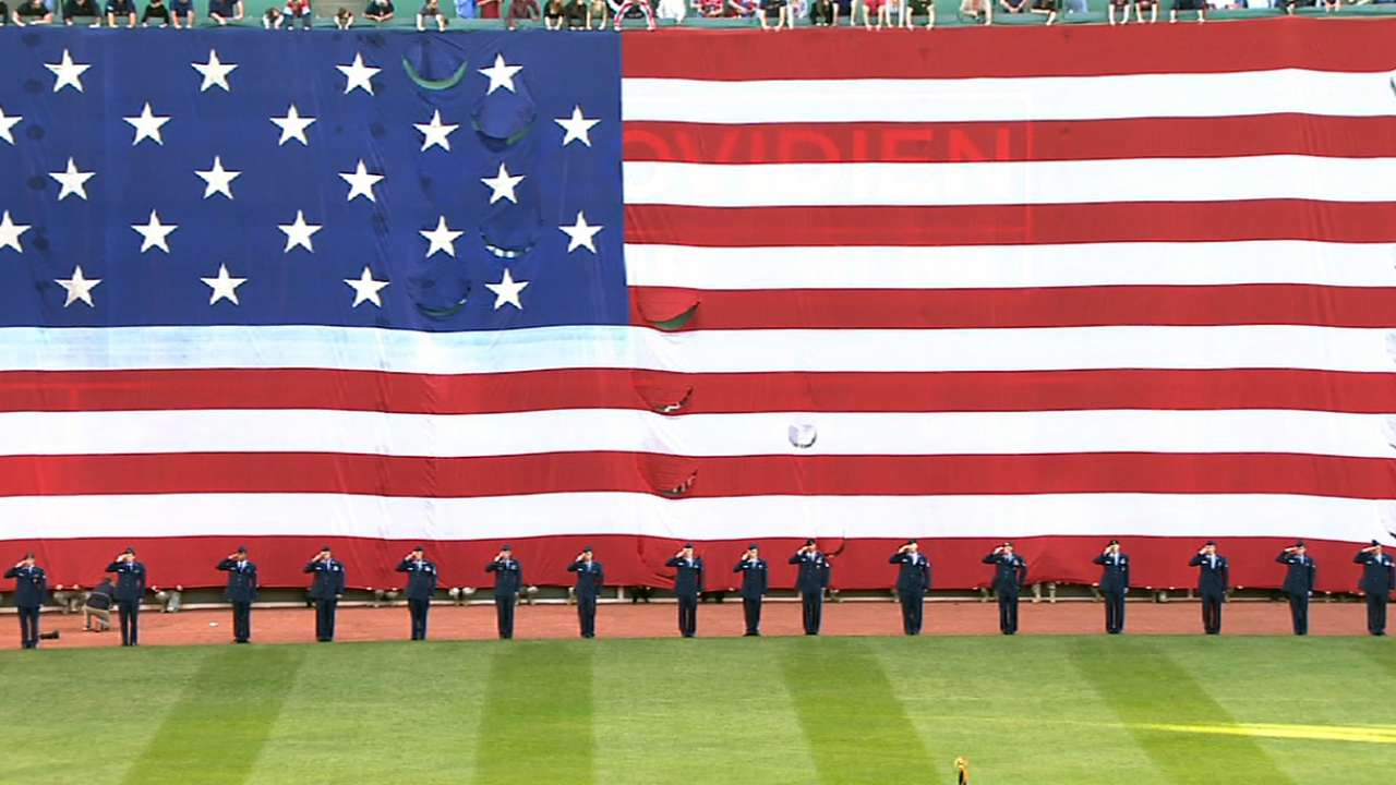 Red Sox hold Memorial Day ceremony at Fenway