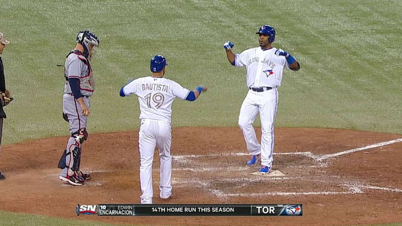 Encarnacion drives in five to back Buehrle