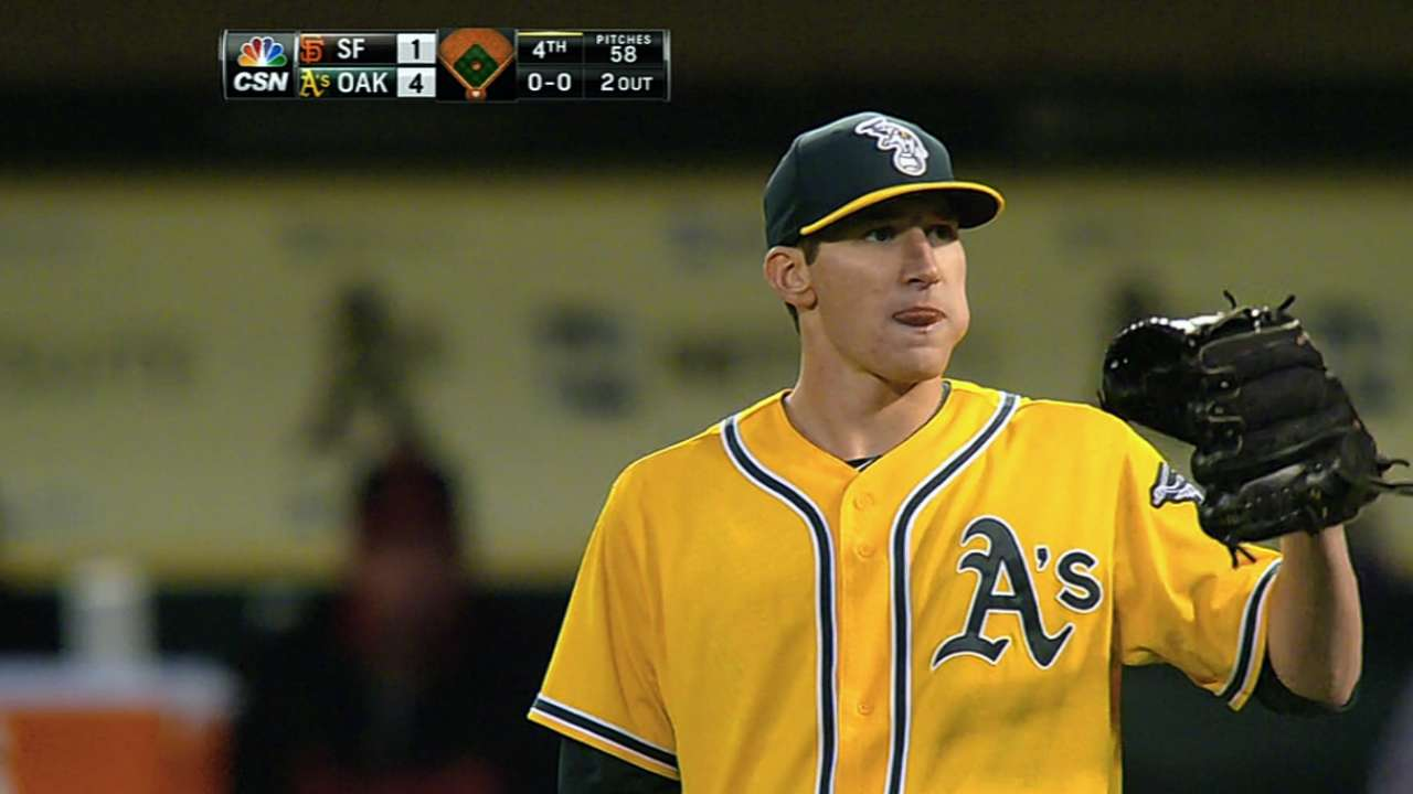 A's back Parker to win fifth straight game