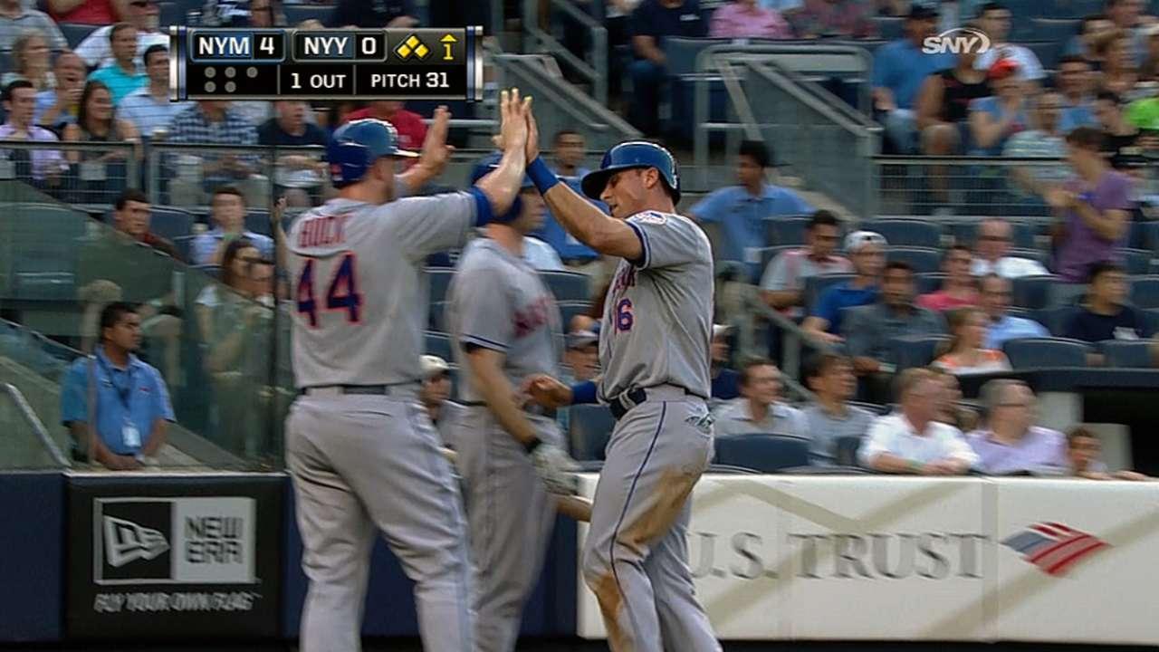 Mets le madrugan a Phelps y aplastan a Yankees