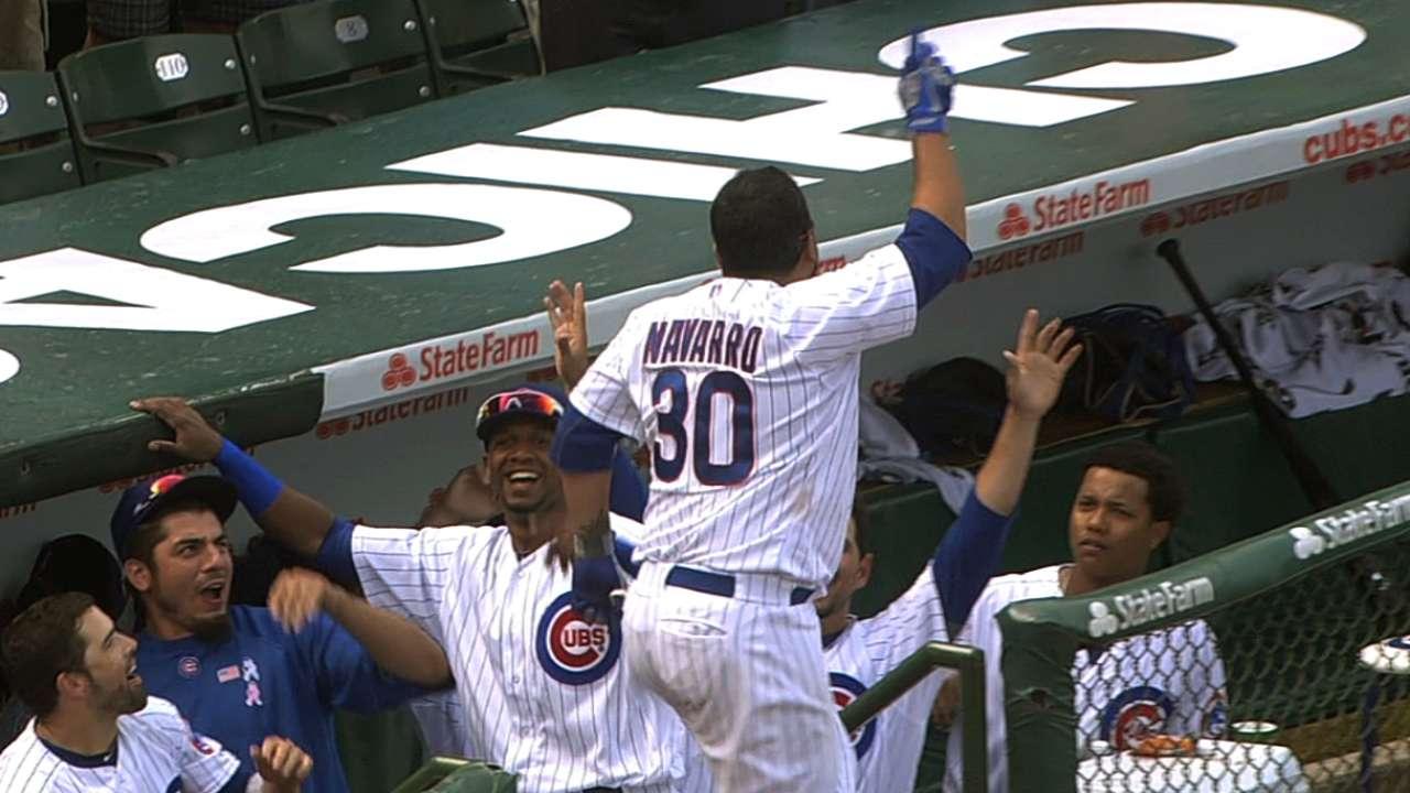 Tri-oner Navarro: Catcher's clouts carry Cubs