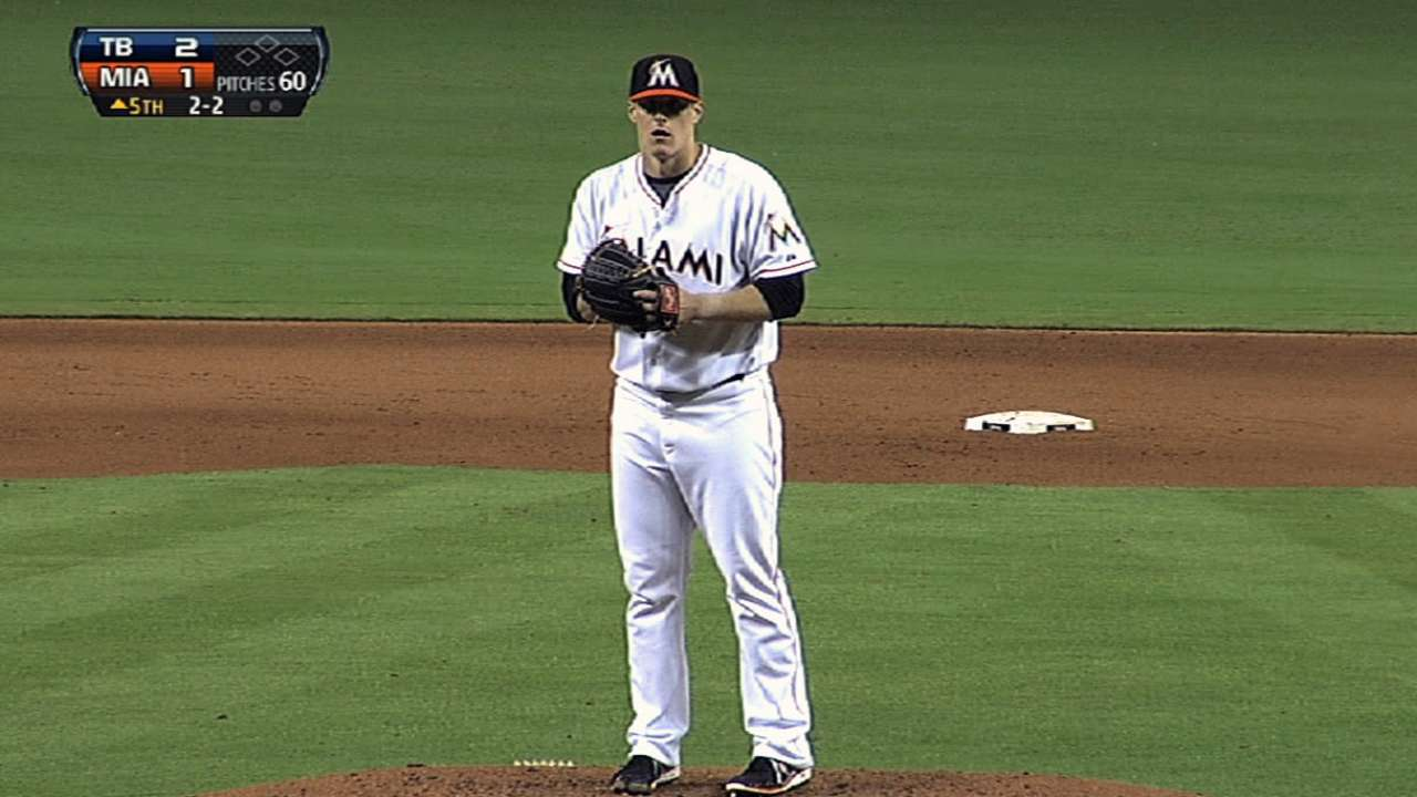 Koehler goes eight, but Marlins lose eighth straight
