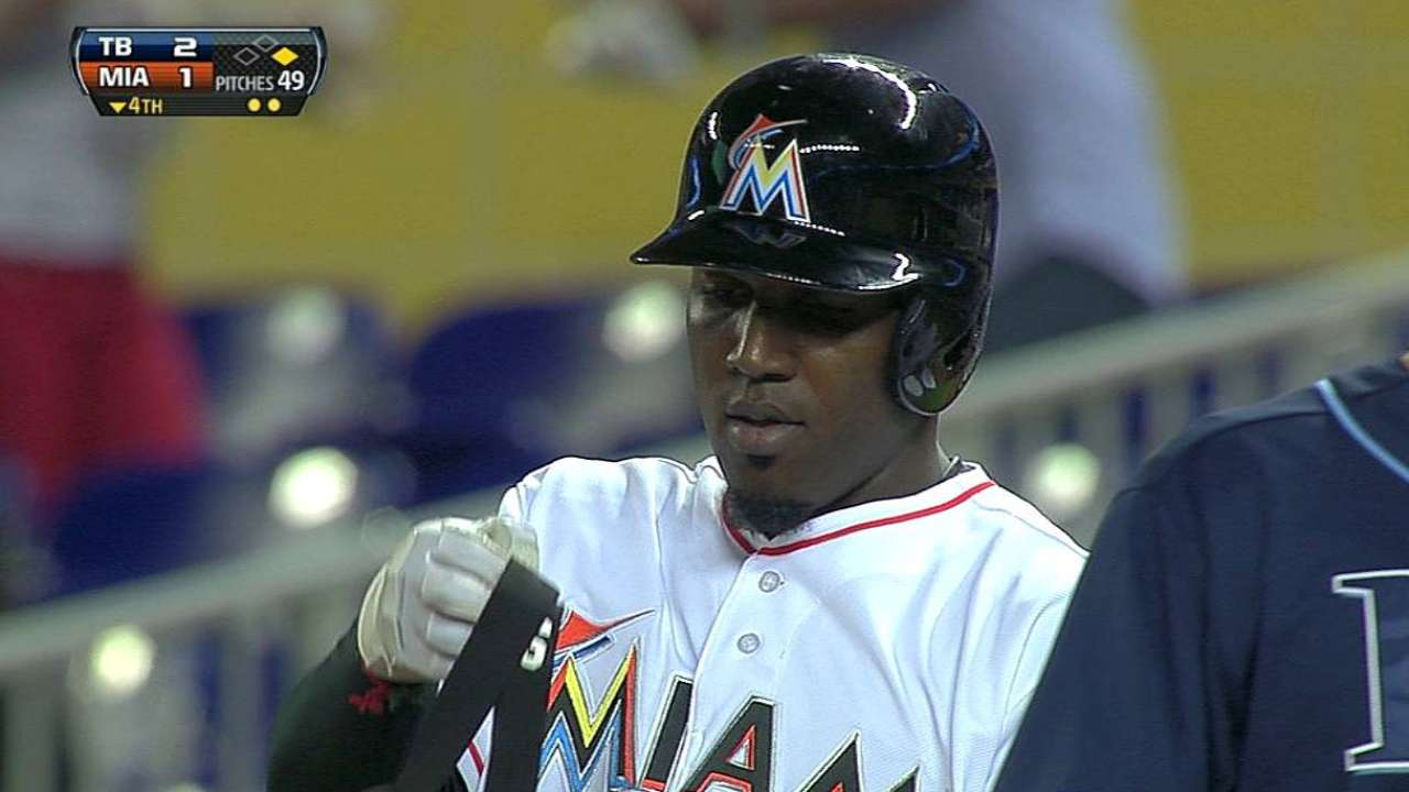 Ozuna already making history with Marlins