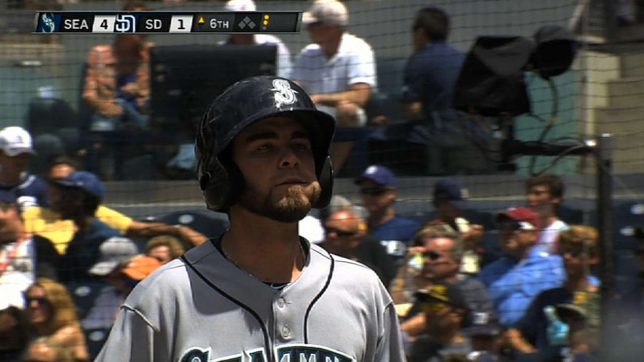 Felix rides five blasts to win over Padres