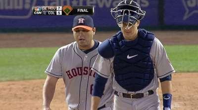 Astros recall Ambriz to help bolster bullpen