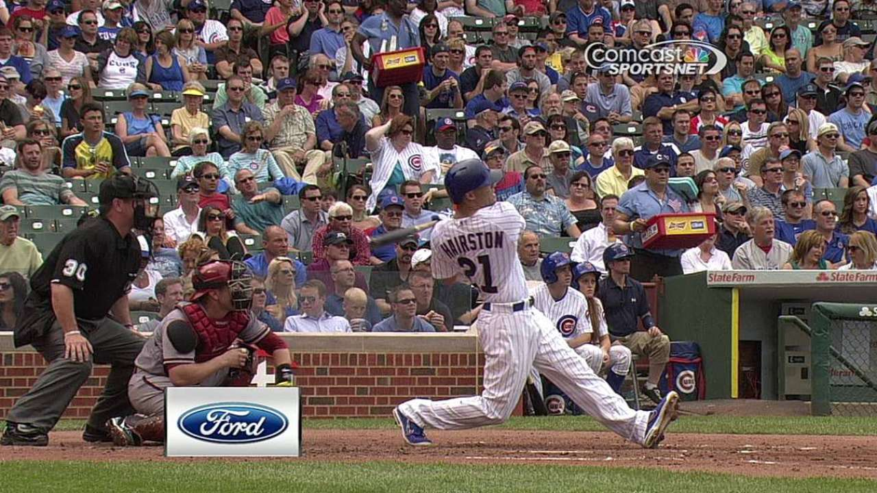 Cubs thump D-backs, notch fifth straight victory