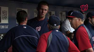 Strasburg feels better, has Saturday start in sight