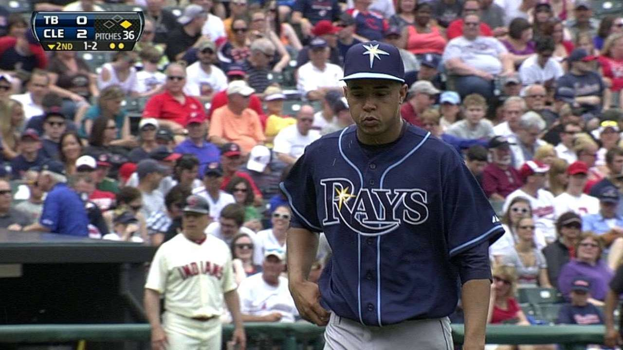 Exhausted Rays silenced by Tribe's Jimenez