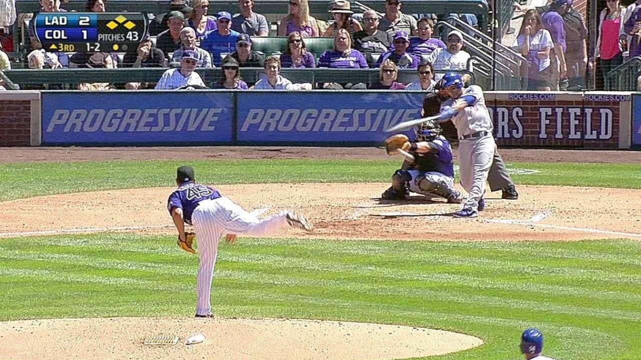 Dodgers sucumbieron ante los Rockies en 10 innings