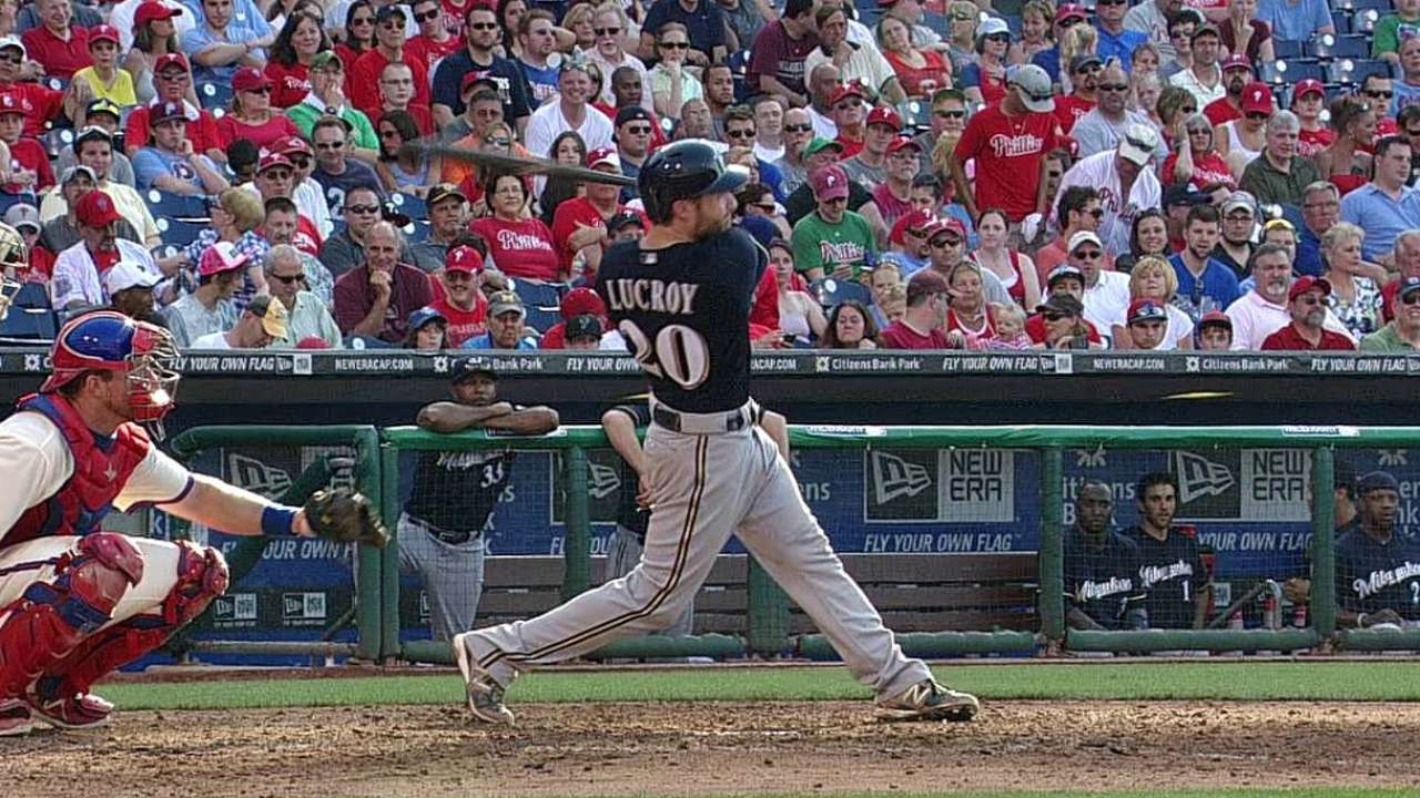 Brewers excited about Lucroy's hot streak