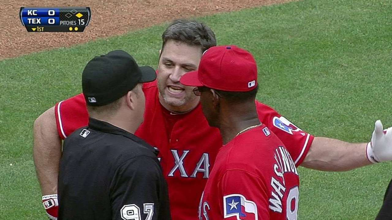 Berkman tossed in first inning after strikeout