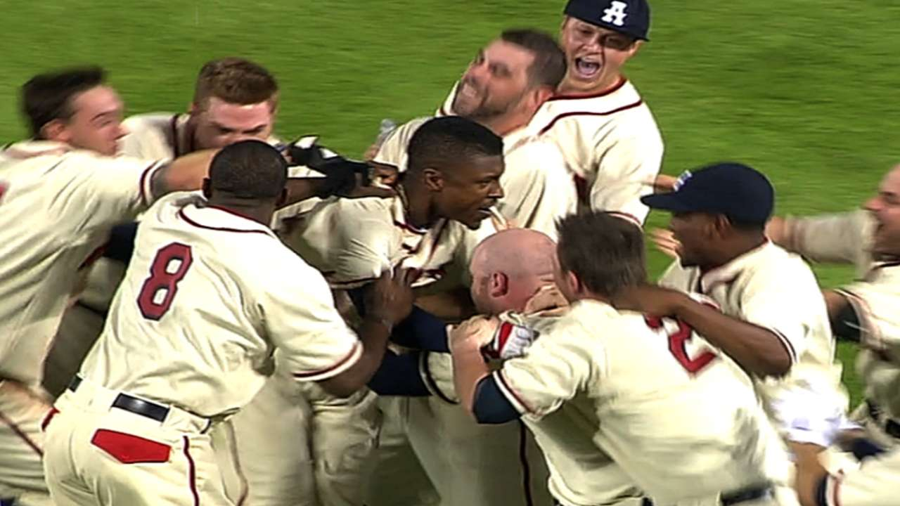 B.J. Upton gives Braves fans reason to cheer