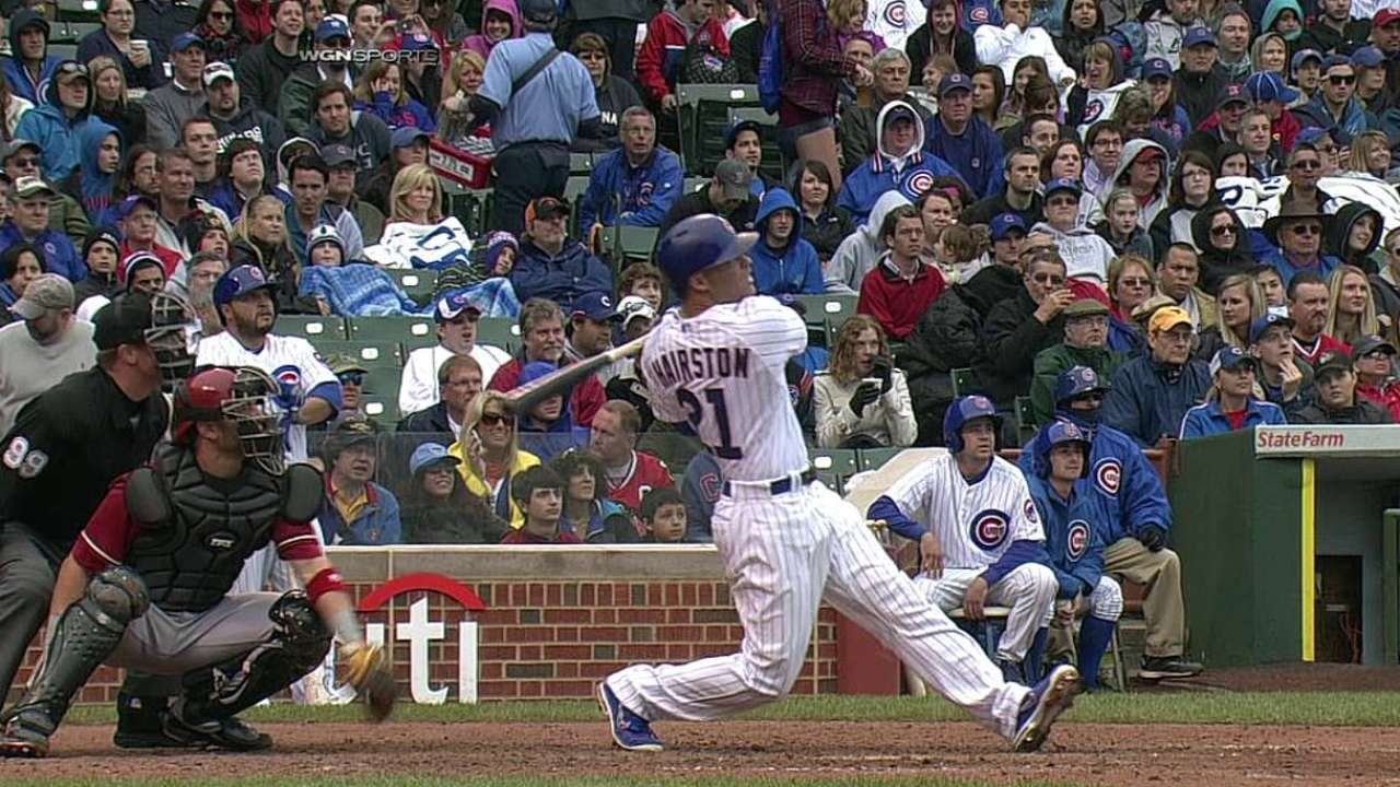 Hairston pega HR 100 en derrota de Cubs ante D-backs