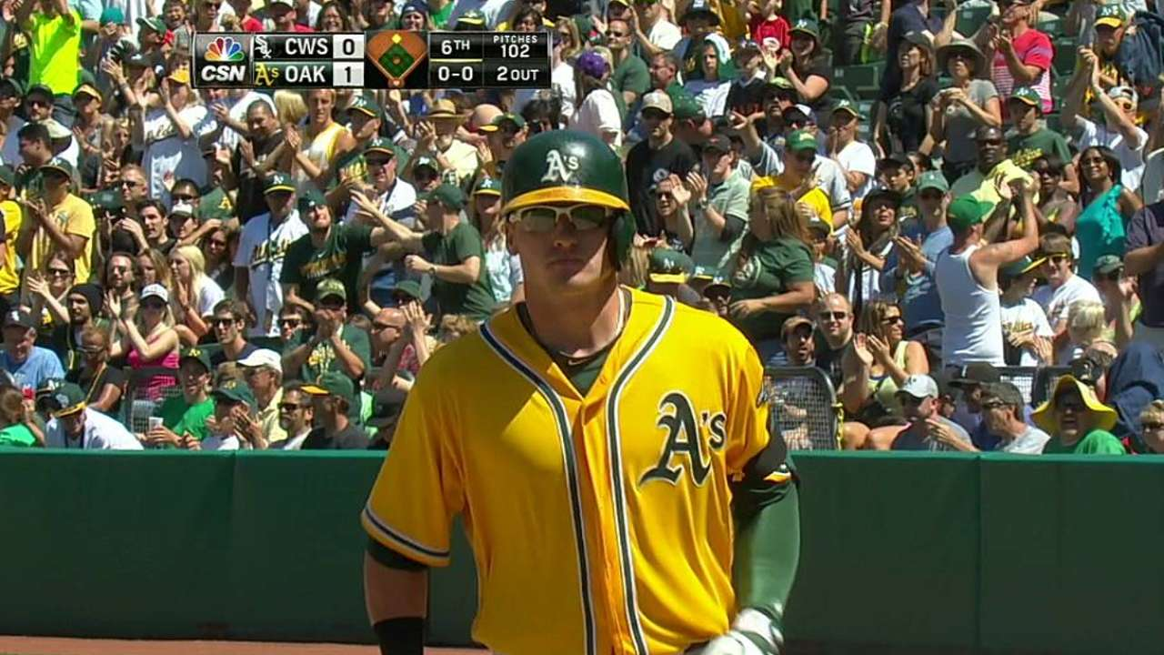 Parker, A's blank White Sox to take three-game sweep