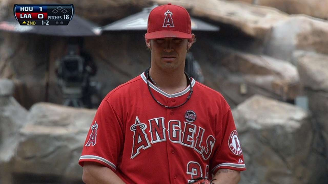 Angels frustrated after falling again to Astros