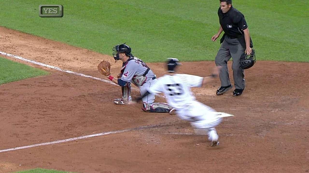 Ataque de Yankees reaccionó para doblegar a Indios