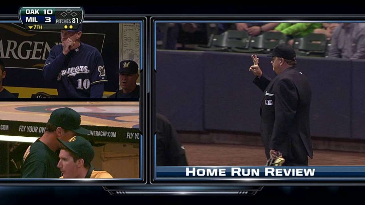 Weeks denied homer after video review