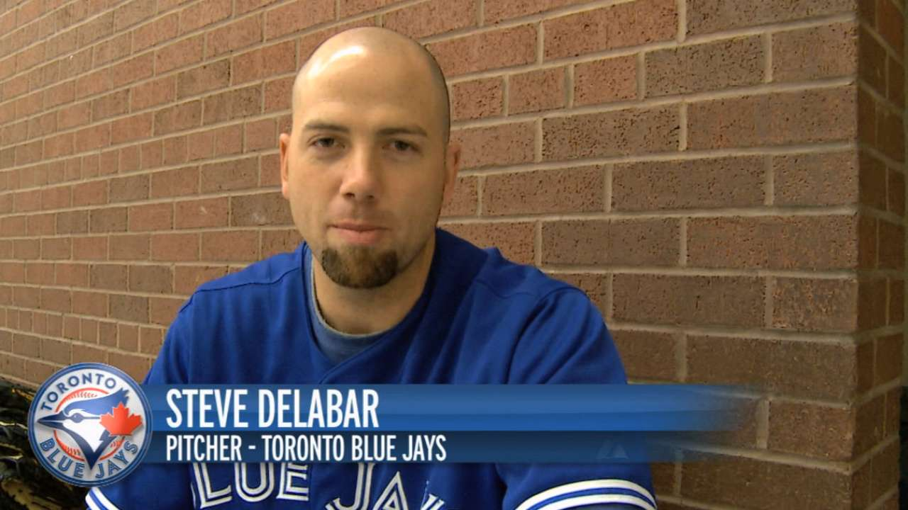 Delabar, Vancouver manager McCullough visit school