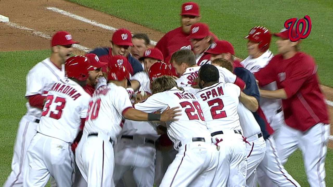 Electric ninth ends in Nats' first walk-off of '13