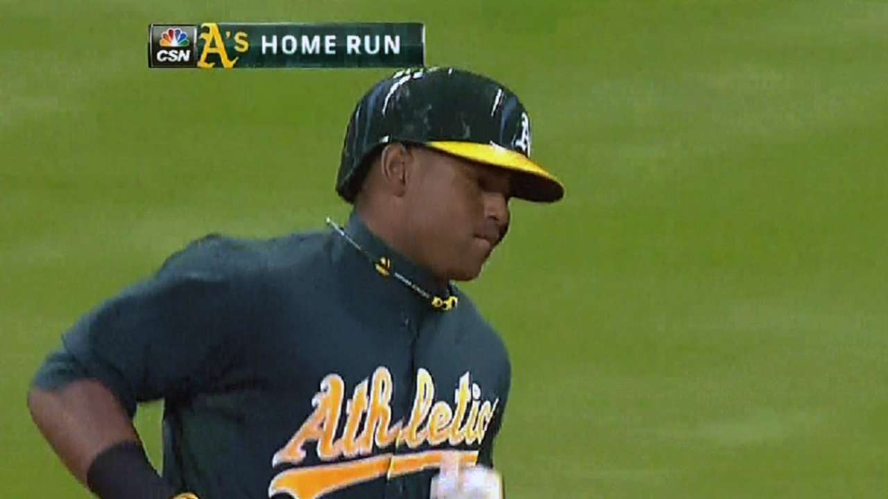 A's fall in 10th inning despite Cespedes' two homers