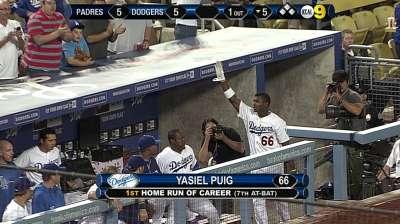 Puig se lució con dos jonrones y Dodgers ganaron