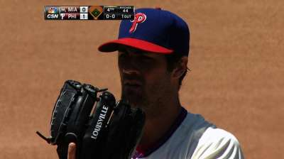 Hamels snaps skid thanks to five-run seventh