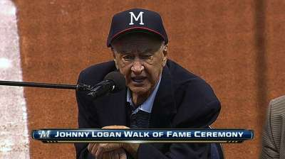 Former shortstop Logan joins Miller Park Walk of Fame