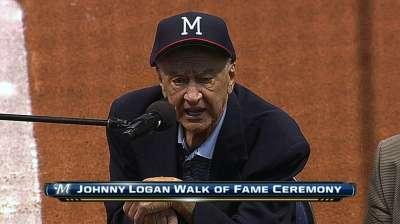 Former shortstop Logan joins Miller Park Walk of Fame