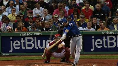 Rangers fall to Red Sox on ninth-inning homer