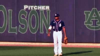 Outfielder from small school looks to be big player