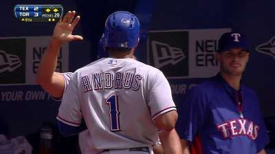 Andrus struggling since move to leadoff spot