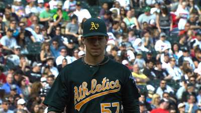 Bullpen falters in eighth as A's fall to White Sox