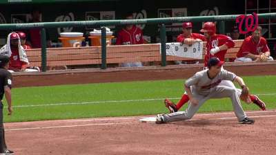 Kobernus notches first Major League base hit