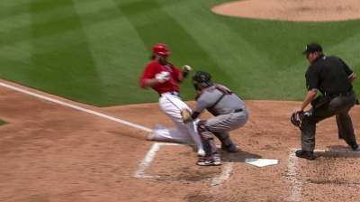 Diamond gets roughed up by Nats in matinee