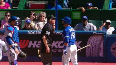 Bautista tossed arguing ninth-inning strikeout