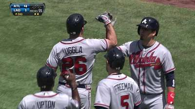 Uggla wears contacts for first time in a live game