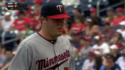 Reliever Thielbar's scoreless-innings streak ends