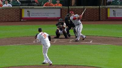 Angels let one slip away in rainy Baltimore